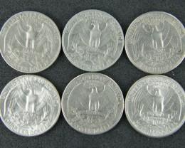 UNITED STATES LOT 6, QUARTER DOLLAR 1970-1973 COINS T702