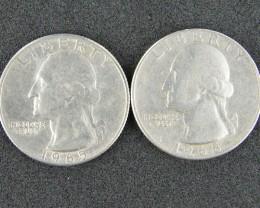 UNITED STATES LOT 2, 1965-1968 QUARTER DOLLAR COINS T703