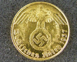 GERMANY LOT 1, 1937 PFENNIG DISPLAY ONLY COIN T706