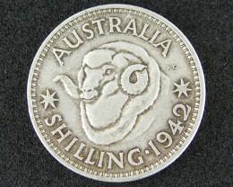 AUSTRALIA LOT 1, 1942 SHILLING COIN 925   SILVER T731