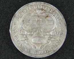 AUSTRALIA LOT 1, 1927 ONE FLORIN COIN   925 SILVER T738