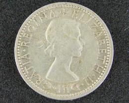 AUSTRALIA LOT 1, 1954 SHILLING COIN 800   SILVER T740