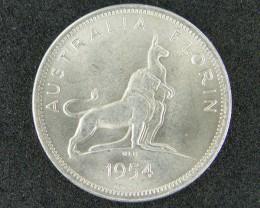 AUSTRALIA LOT 1, 1962 FLORIN COIN   80%  SILVER T744