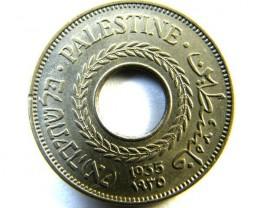 PALESTINE   5 MILLS  1935   COIN  OP 323