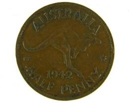 AUSTRALIA LOT 1, HALF PENNY 1942 COIN T753