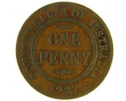 AUSTRALIA LOT 1, ONE PENNY 1927 COIN T761