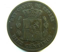 SPAIN COIN   10 C   1879    OP 326