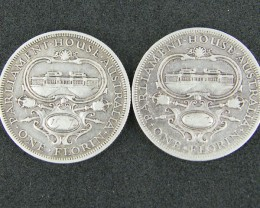 LOT 2, 1927 PARLIMENT HOUSE FLORIN COINS 925 SILVER T788