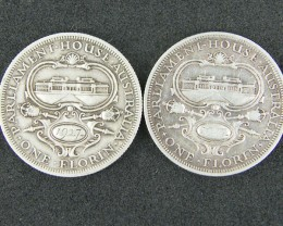 LOT 2, 1927 PARLIMENT HOUSE FLORIN COINS 925 SILVER  T789