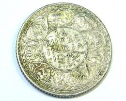 BRITISH EMPIRE LOT 1, 1/4 RUPEE 1940 COIN T794