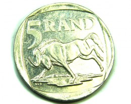 SOUTH AFRICA LOT 1, FIVE RAND COIN T800