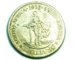 SOUTH AFRICA  1933 SHILLING FINE  ,  COIN T 819