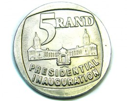 SOUTH AFRICA   SILVER 5 RAND 1974 ,  COIN T 822
