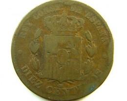 SPAIN  COIN  10 C   1879    OP341