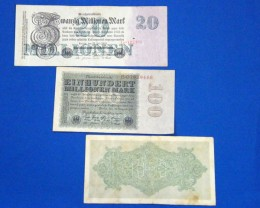 THREE GERMAN 1922- 1923 NOTES       T 874