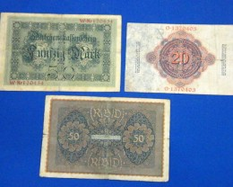 THREE GERMAN NOTES 1919,1914,1914       T 876
