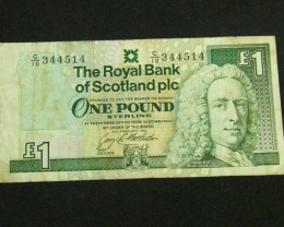 SCOTLAND ONE POUND 1993     T 885