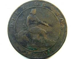 SPAIN  COIN  1870    OP347