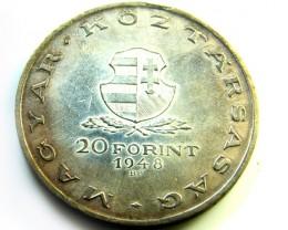 HUNGARY L1, 1948 TWENTY FLORIN COIN T927
