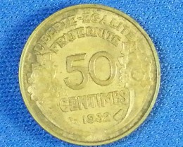 FRANCE L1, 1952 FIFTY CENTIMES COIN T940