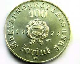 HUNGARY L1, 1973 ONE HUNDRED FLORINT COIN T951