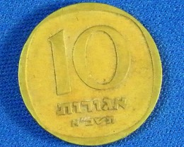 ISRAEL L1, 1961 TEN CENT COIN T952