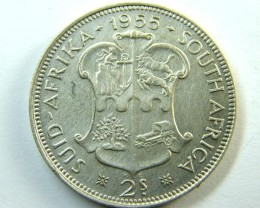 SOUTH AFRICA   COIN  2 SH    1955 OP 351