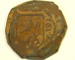 ANCIENT SPANISH L1, ACUNA FIRST CENTUARY SPANISH COIN T972