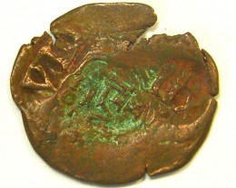 ANCIENT SPANISH L1, ACUNA FIRST CENTUARY SPANISH COIN T974