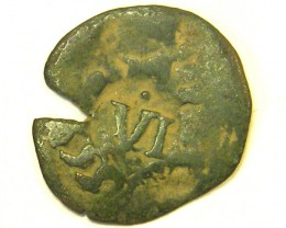 ANCIENT SPANISH L1, ACUNA FIRST CENTUARY SPANISH COIN T976
