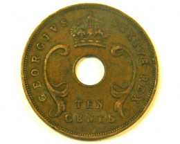 EAST AFRICA L1, 1952 TEN CENT COIN T978