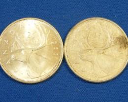 CANADA L1, TWENTY-FIVE CENT 1963-1966 COIN T983