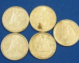 CANADA L5, 1943-1963 TEN CENT COINS T986