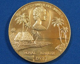 WESTERN SAMOA L1, ONE DOLLAR ROYAL JUBLIEE 1977 COIN T994