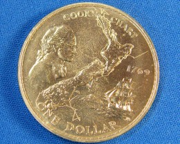 WESTERN SAMOA L1, ONE DOLLAR ROYAL JUBLIEE 1977 COIN T995