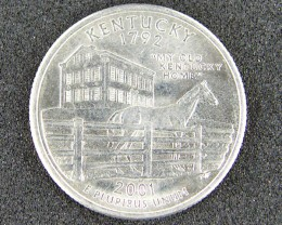 UNITED STATES COIN L1, QUARTER DOLLAR 2001 T1032