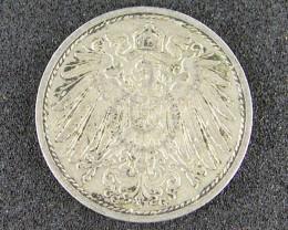 GERMANY COIN L1, 1914 TEN PFENNIG T1043