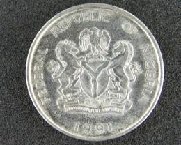 NIGERIA COIN L1, ONE NAIRA 1986-1946 T1058