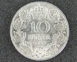 YUGOSLAVIA COIN L1, 1938 TEN DINARA COIN T1065