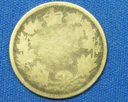 CANADA COIN L1, 1872 TWENTY FIVE CENT COIN T1075