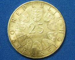 AUSTRIA COIN L1, 1967 ONE SHILLING COIN T1105