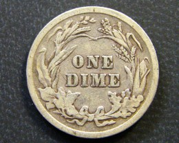 USA COIN L1, 1904 BARBER DIME COIN T1141
