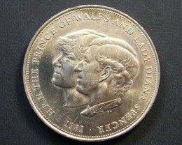 UNITED KINGDOM COIN L1, PRINCE OF WALES & LADY DIANA T1164