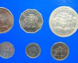 JAMAICA COIN L8, 1975 UNC COINS T1172