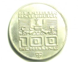 AUSTRIA COIN L1, ONE HUNDRED SCHILLING 1976 COIN T1193