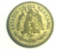 MEXICO COIN L1, 1921 TEN CENTAVOS COIN T1206