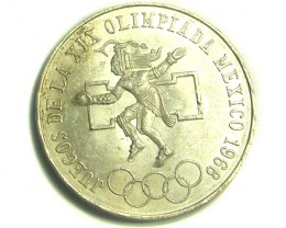MEXICO COIN L1, TWENTY-FIVE PESOS 1968 OLYMPIC COIN T1208