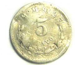 MEXICO COIN L1, 1888 FIVE CENTAVOS COIN T1232
