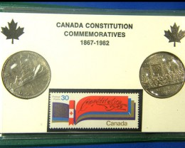 CANADA COIN L2, UNC CONSTITUTION COMMEMORATIVE COINS T1244