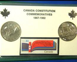 CANADA COIN L2, UNC CONSTITUTION COMMEMORATIVE COINS T1244
